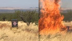 Dennis (37) oznámil pohlaví dítěte výbuchem: Zaměstnal tím 800 hasičů a způsobil škodu 180 milionů