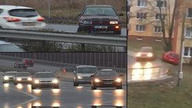 Šílené, řidič se nekontrolovatelně klouzal po zledovatělé silnici: Extrémní nebezpečí trvá