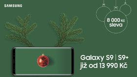 První adventní víkend Samsung potěší megaslevou 8 000 Kč na modely Galaxy S9 a S9+