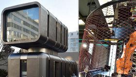 V Butovicích nalévá drinky robot! Nevšední budovu s vinárnou navrhl kontroverzní umělec David Černý