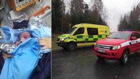 Drama se šťastným koncem: Záchranáře uvěznila ledovka, holčička se narodila v sanitce