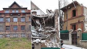 Kauza zničené vily na Vinohradech: Za bourání pokuta až dva miliony! Musí ji uvést do původního stavu