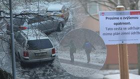 Kalamita sevřela jižní Moravu: Proti zrádné ledovce nasadily úřady v Brně cedulky