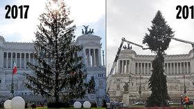 Loni opelichaný, letos polámaný! Vánoční stromek v hlavním městě je opět terčem vtipů