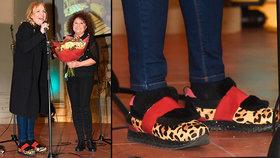 Havlová na Mikulášském bazaru: Překřtila Zelenkovou a bavila papučemi