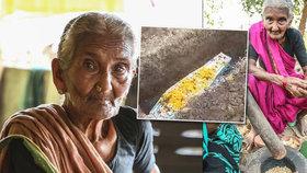 """Zemřela nejstarší youtuberka. Indické """"Ditě P."""", která vařila v poli, bylo 107 let"""