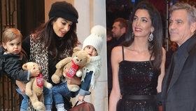 První fotky dvojčátek Clooneyových! Komu z rodičů jsou podobná?