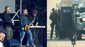 Teroristický útok na koncertu slovenské skupiny Desmond: Elitní zásahovky se sjely v Komárnu