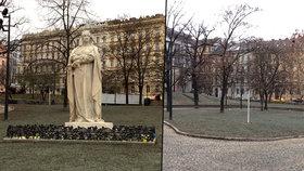 """U Muzea se přestanou scházet pochybná individua. Nepřehlednou """"džungli"""" nahradil moderní park"""