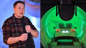 Auta tam mají svištět rychlostí 241 km/h. Lidé si poprvé vyzkoušeli Muskův tunel budoucnosti
