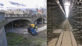 Nový kolektor pod Štvanicí je hotov. Opravě Hlávkova mostu už nic nebrání