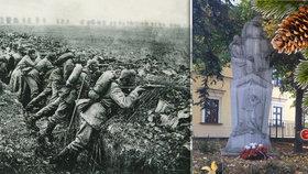 I na Vánoce za 1. sv. války trpěli a umírali: Pomník v Liboci připomíná neštěstí rodin padlých vojáků