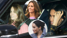 Marnotratná Meghan: Na oběd s královnou se oblékla  za miliony! Kate v šatech za 9000