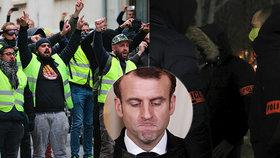 Macron dál ustupuje: Prezident se podvolil žlutým vestám i požadavkům policie