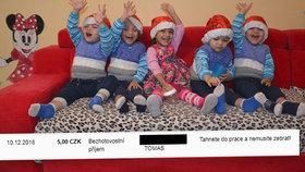 Drsný útok na paterčata před Vánocemi: Nemusíte žebrat, napsal rodině Roman