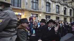 Po 100 letech se do Prahy vrátil T. G. Masaryk. Proběhla rekonstrukce jeho cesty z exilu