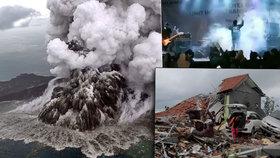 Tsunami v Indonésii má už 373 obětí, lidé umírali i  na koncertě. Nakupte detektory, nařídil prezident