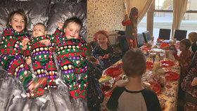Vánoce rodiny s 21 dětmi: Balení dárků od srpna, košíky plné k prasknutí a hry na směny