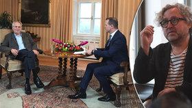 """Zeman souzní se Soukupem a zaútočil na """"lepšolidi"""". Hřebejk: """"Ubohá nálepka"""""""