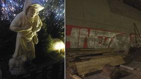 Strážníci zasahovali i o svátcích: Zadrželi ozbrojené sprejery (16) a vandala (26), který poničil betlém