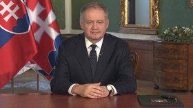 Kiska v posledním novoročním projevu litoval vraždy Kuciaka a chválil Slováky
