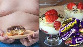 """Lékaři v boji s dětskou obezitou razí """"pudinkovou daň"""". Na dorty i sušenky"""