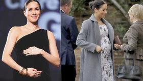 Británie na nohou: Meghan porodí už příští měsíc, rezonuje ostrovy