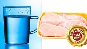 Test mraženého kuřecího ukázal: Vyždímáte téměř hrnek předražené vody! Kterému výrobci se vyhnout?