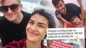Tropická bouře uvěznila české hvězdy na thajských ostrovech! Modlím se, říká Ztracený