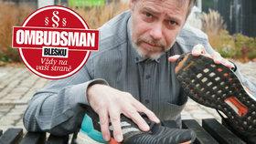 Sportovní boty za 3 tisíce: Rozpadly se po třech měsících, reklamaci prodejce neuznal! Co na to Ombudsman Blesku?