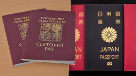 Nejsilnější pas mají Japonci, otevře jim dveře do 190 zemí. Český pas skončil v první desítce