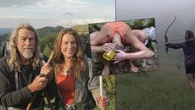 Vlasy si myjí močí a jídlo loví lukem: Miriam (34) s Petrem (64) se vzdali pohodlí a vyrazili do světa!