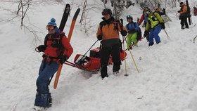 Lavina na Slovensku zavalila lyžaře. Pomoc kamarádů přišla pozdě, už nedýchal