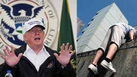 """""""Zeď přelezte nebo obejděte."""" Na Trumpa vyplulo video, které baví internet"""