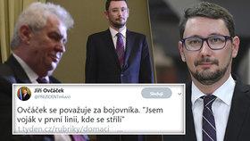 """""""Fašizující kavárna, prasata."""" Hradní mluvčí Ovčáček slaví 40. narozeniny, co všechno """"vypustil"""" z úst?"""