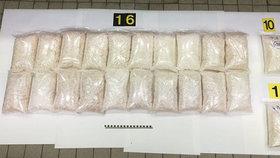 V Malajsii o víkendu zadrželi téměř 600 kilogramů metamfetaminu