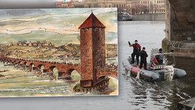 Potápěči dokončili průzkum Juditina mostu: Záhadný nález na staroměstském břehu!
