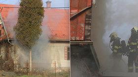Smrtící plameny! Ve Velkém Týnci hasiči našli v domě mrtvou ženu