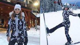 Andrea Verešová se zranila na lyžích! Je konec s podpatky a křepčením