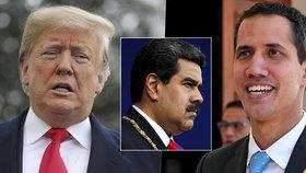 Trump prý uzná venezuelským prezidentem šéfa opozice. Aby tlačil na Madura