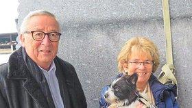 Nejen první dámy, EU má i svého prvního psa. Juncker adoptoval křížence teriéra