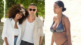 O 31 let mladší manželka herce Vincenta Cassela ukázala těhotenské bříško!