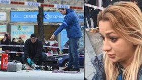 Žena, která pomáhala hasit muže na Václaváku: Jen sténal, nic neříkal