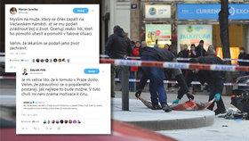 Primátor Hřib lituje pokusu o upálení v centru Prahy. Jurečka chválí kolemjdoucí