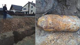 Evakuace na Opavsku: Dělníci našli stokilovou pumu v zástavbě rodinných domků