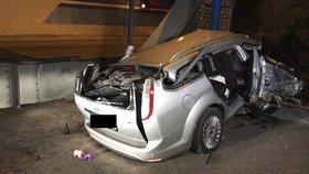 Smrtelná nehoda na Pražském okruhu! Vůz sjel ze silnice a narazil do zdi tunelu