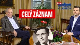 Prezident Zeman o důchodu, blbcích u Palacha i kauze Huawei: Exkluzivně z Lán