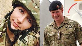 Opilá kolegyně prince Harryho sexuálně obtěžovala vojáka. Měkký trest pobouřil