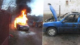 Drama na Vyškovsku: Senior zkolaboval za volantem, auto začalo hořet! Sedělo v něm i dítě