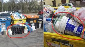 Foto jako důkaz: Podnikatelé v Praze přeplňují popelnice určené obyvatelům, hrozí jim pokuta
